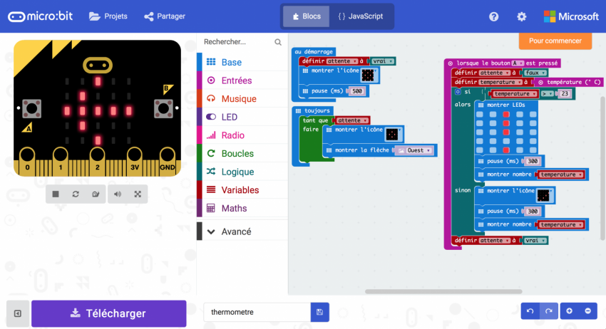 microbit interface block javascript